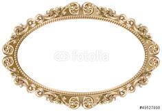 Vecteur : Cadre baroque ovale doré