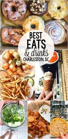 The BEST Eats & Drinks in Charleston, South Carolina! If you're traveling to Charleston, you need to eat at these places for breakfast, lunch, dinner, and dessert!