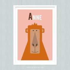 Poster Aap met eigen naam
