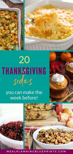 These make ahead Thanksgiving side dishes are perfect for making turkey day as simple as possible! Put a few of the easy side dish recipes on your Thanksgiving meal plan, make them the week before, and put your feet up and enjoy Thanksgiving! Easy Thanksgiving Recipes, Thanksgiving Meal, Thanksgiving Side Dishes, Holiday Recipes, Holiday Meals, Christmas Recipes, Dinner Recipes, Quest Bars, Side Dishes Easy