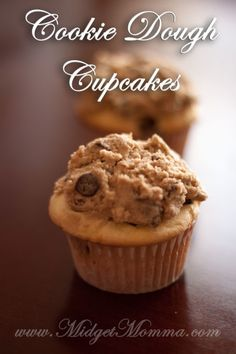 Chocolate Chip Cupcakes with cookie dough icing