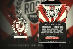Rock Fest Poster by Set Sail Studios on Creative Market