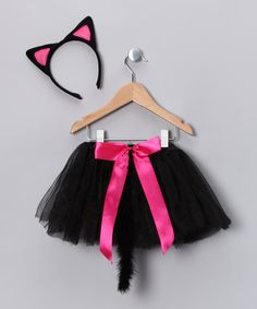 With this meow-tastic set, any kitty princess can reign in style. While the tutu features a stay-put elastic waistband, the tail and headband add playful embellishments for hours of purrfect fun. Includes headband, tail and tutuFits ages 3 to 6 yearsPolyesterImported...