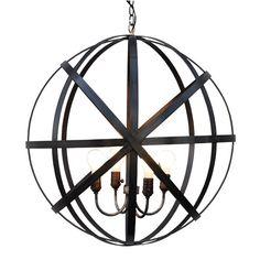 Spherical Metal Hanging Lantern