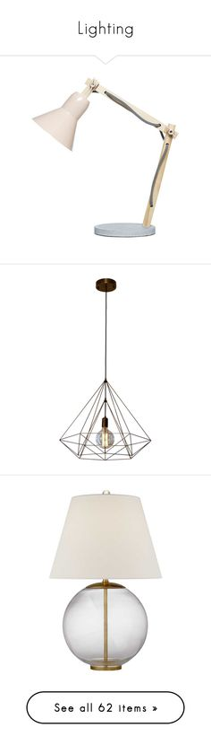 """""""Lighting"""" by emmeleialouca ❤ liked on Polyvore featuring home, home decor, lighting, ceiling lights, bronze lighting, gold chandelier light, gold hanging lights, diamond lamp, bronze ceiling lights and table lamps"""