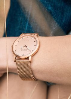 Rose gold watches are popular for summer