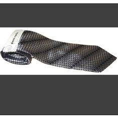 Men/'s Neck Tie Dark Maroon Red Egg Shell Diagonal Stripes 3 sizes New Free Ship