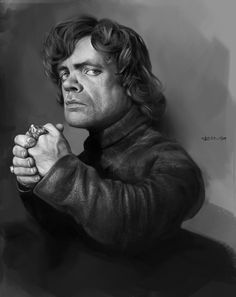 Fantastic Digital Portrait Painting of Tyrion Lannister by R ING