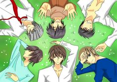 Junjou Romantica. Junjou Egoist. Junjou Terrorist. Usagi- san. Nowaki, Miyagi, Misaki, Hiro- esn and Shinobu
