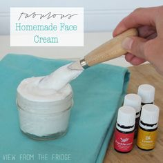 Easy recipe for absolutely FABULOUS Homemade Face Cream. All Natural! Via View From The Fridge