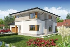 DOM.PL™ - Projekt domu DA 310 B CE - DOM DS4-63 - gotowy projekt domu Home Fashion, House Plans, Sweet Home, Shed, Villa, Outdoor Structures, House Design, Architecture, House Styles