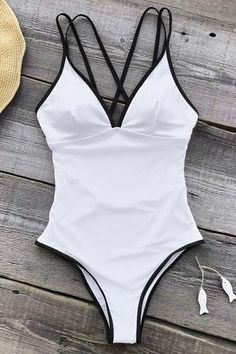 2befec8bd23 Cupshe As White As Snow One-piece Swimsuit Summer Bathing Suits