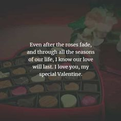 50 Valentine's day quotes and Valentine's day messages. Here are the best Valentine's day quotes and sayings to convey the love for your spe. Best Valentines Day Quotes, Valentines Day Messages, Romantic Messages, Sweet Messages, Valentine's Day Quotes, Valentine Special, Love You, My Love, Quote Of The Day