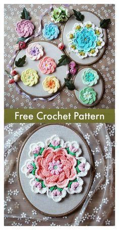 Tropical Delight Flower Free Crochet Pattern