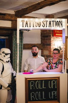 30 best wedding ideas to steal Forget photo booths; how about a Tattoo Station? All photos by Tino and Pip. how about a Tattoo Station? All photos by Tino and Pip. Punk Wedding, Wedding After Party, Rockabilly Wedding, Wedding Henna, Quirky Wedding, Wedding Tattoos, Wedding Games, Wedding Planning, Wedding Day