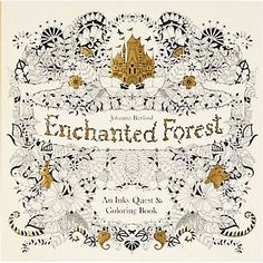 Enchanted Forest Coloring Book- I need one of these!