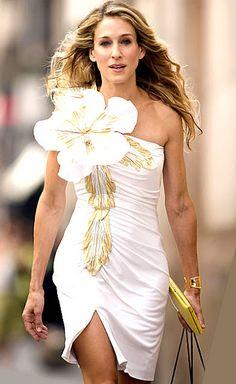 White & Gold Dress
