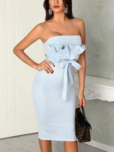 Satin Dresses, Strapless Dress, Bodycon Dress, Gowns, Womens Fashion Online, Amazing Women, Evening Dresses, Party Dress, Short Dresses