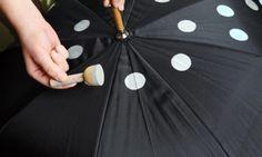 DIY Polka Dot Umbrella, by Henry Happened