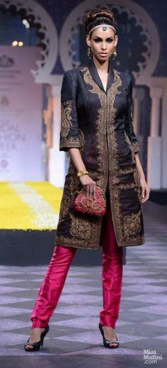 Raghavendra Rathore. Cigarette pants with an opulent jacket