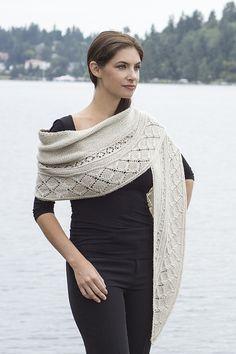 Ravelry: Lattice Crescent Shawl pattern by Jennifer Weissman