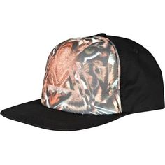 River Island Black tiger print snapback ($11) ❤ liked on Polyvore