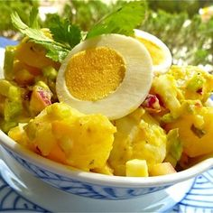 The tangiest, best mustard potato salad you'll have all summer.  Allrecipes.com