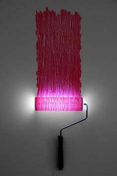 Paint Roller Lamp by Natalie Sampson Designs | Please subscribe to my weekly newsletter at upcycledzine.com ! #upcycle