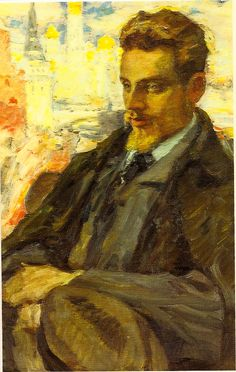 Rainer Maria Rilke in Moscow by Leonid Pasternak, 1928 Rainer Maria Rilke, Ilya Repin, Writers And Poets, Harlem Renaissance, Art Et Nature, Stefan Zweig, Painting People, Art For Art Sake, Russian Art