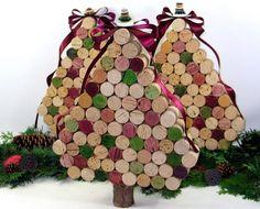 Árbol de Navidad con corchos