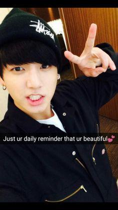 BTS Jungkook imagines snap chat