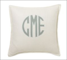Want, need, desire. Accent pillow for the bed via Pottery Barn.