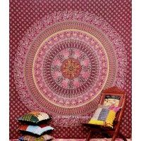 This National bird peacock tapestry traditional elephant mandala bedsheet home decor hippy throw bedspread, Dorm Tapestry, Decorative Pshychedelic twin bedsheet, Picnic beach sheet