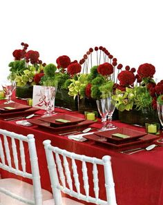 Romantic Table Centerpieces for Valentine's Day 2013 Valentine Day Table Decorations, Red Wedding Decorations, Christmas Decorations, Christmas Centerpieces, Holiday Tables, Ceremony Decorations, Table Arrangements, Table Centerpieces, Flower Centerpieces
