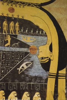 Ceiling of tomb of Ramses VI, Sky goddess Nut - detail