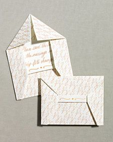 Folded Envelope Save-the-Date How-To - Martha Stewart Weddings Inspiration