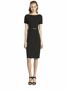 Gucci Belted Mesh Detail Dress with Cut Out Back