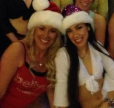 Last class before Christmas we danced in our Santa hats !