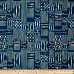 Cotton & Steel Macrame Wall Hanging Deep Sea from @fabricdotcom  Designed by Rashida Coleman-Hale for Cotton + Steel, this cotton print fabric is perfect for quilting, apparel and home decor accents. Colors include turquoise, ivory, orange, pink and black.