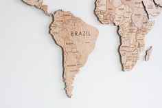 World Map-Living Room-Wooden-Big Map-Travel-Modern-Rustic Handmade Lamps, Handmade Gifts, Wood Napkin Holder, Wooden Map, Travel Gifts, Gifts For Husband, Modern Rustic, Laser Engraving, House Warming