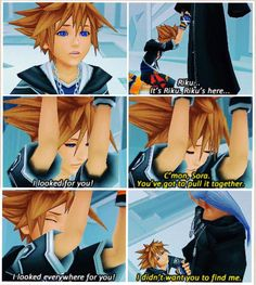 """You're still Riku, no matter what."" Omg this always makes me cry"