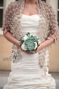 Bride Bolero Shrug // Bridal Shawl // Winter accessories // Wedding Accessories // Shrug // Bolero / Mocha Shrug on Etsy Winter Wedding Shawl, Wedding Shrug, Bridal Bolero, Bridal Cape, Snowflake Wedding, White Shawl, Bridal Cover Up, Crochet Wedding, Crochet Shawl