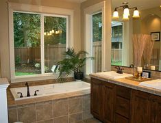 Beautiful Modern Bathroom with big windows and natural light