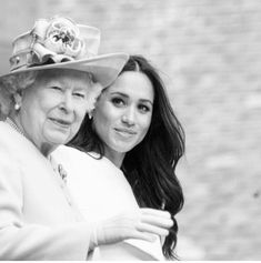 Queen Elizabeth II and Meghan, Duchess of Sussex Prinz Harry Meghan Markle, Meghan Markle Prince Harry, Prince Harry And Megan, Harry And Meghan Wedding, Prinz Charles, Prinz William, Princess Meghan, Prince And Princess, Lady Diana