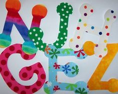 fabric applique template only alphabet 1 one single letter a to z
