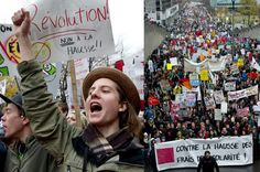 November 10, 2011  Students stage massive protest    More than 20,000 students marched on Premier Jean Charest's Montreal office, in a massive protest against increases in tuition fees.