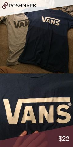 Vans bundle Both in great condition and size large, the navy blue one has some very slight cracking on the print but it's barely noticeable. This is a bundle for both shirts Vans Shirts Tees - Short Sleeve