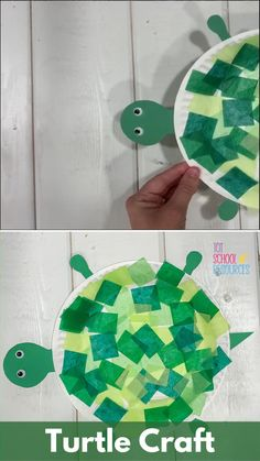 Toddlers and preschool age kids will love this fun paper plate turtle craft. It's a simple and easy activity great for practicing fine motor skills and the perfect addition to under the sea learning. Toddler Arts And Crafts, Preschool Arts And Crafts, Summer Crafts For Kids, Daycare Crafts, Craft Activities For Kids, Kids Crafts, Preschool Age, Toddler Paper Crafts, Easy Crafts For Toddlers