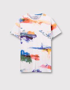 38 ideas t-shirt men design pull & bear Pull & Bear, Shirt Print Design, Shirt Designs, Pull And Bear Homme, Boys Shirts, Tee Shirts, Shirt Men, Cool Tees, Cool T Shirts