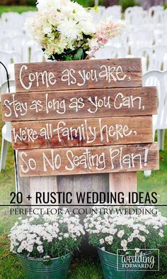21 Perfect Rustic Wedding Ideas  ❤ Do a research with us and see our gallery of rustic wedding ideas!  See more: http://www.weddingforward.com/rustic-wedding-ideas/ #wedding #decoration